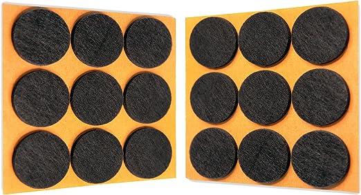 haftplus 18 patins en feutre 28 mm patins de meubles autocollants protection contre les rayures pour les chaises les meubles les pieds de table