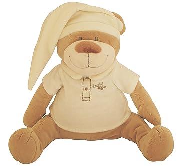 Doodoo Babiage Osito Beige - Juguete de peluche con módulo de sonido que hace sonidos del utero para calmar a un bebé recién nacido