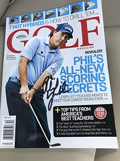 9ad51668bc905d Phil Mickelson Signed Autograph Golf Digest Magazine - JSA Certified ...
