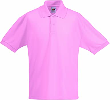 Fruit of the Loom Childrens//Kids Big Girls 65//35 Pique Polo Shirt