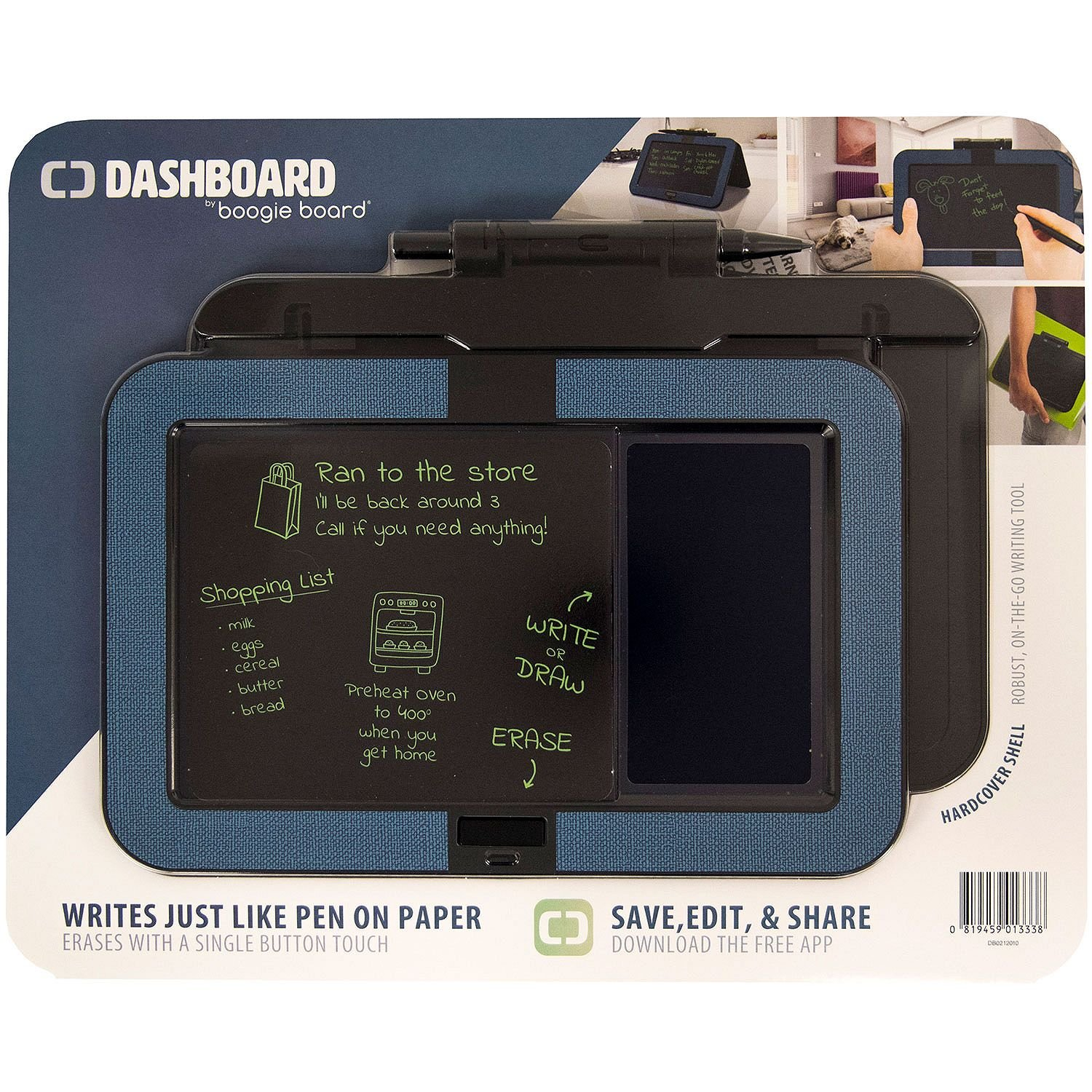 Boogie Board Dashboard with Hardcover Shell, Blue by Boogie Board