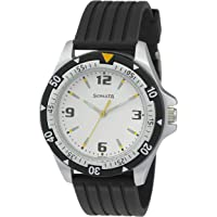 Sonata Super Fibre Analog Black Small Dial Men's Watch -NL7930PP01