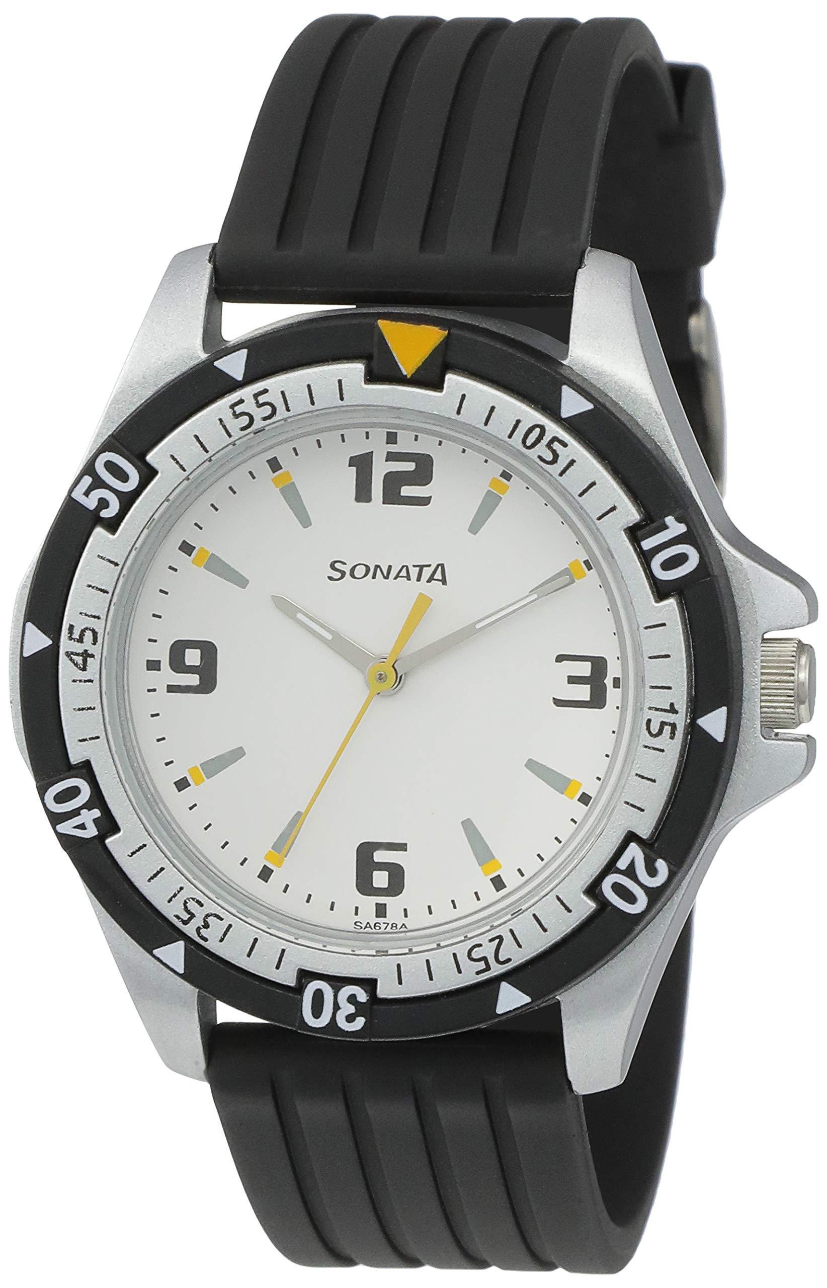 Sonata Super Fibre Analog Black Small Dial Men's Watch -NL7930PP01 product image