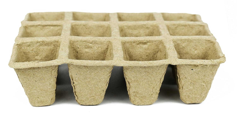 Set de Biodegradable Eco Friendly maceteros de turba bandejas. 12 bandeja de Pot. 15, 88 cm x 4, 75