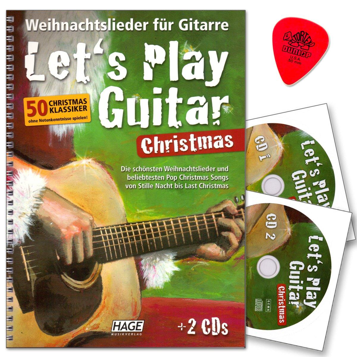 Let\'s play Guitar Christmas - Weihnachtslieder für Gitarre mit 2 CDs ...