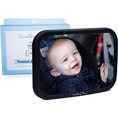 Baby Car Mirror for Rear Facing Car Seat - Shatterproof, Adjustable for Headrest: Baby