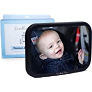 Dwelling Place #1 Premium Back Seat Mirror - Clear Reflection & Shatterproof | Monitor Your Rear Facing Infant in Car Seat Carrier | Add to Your Baby Registry or Buy for a Useful Shower Gift
