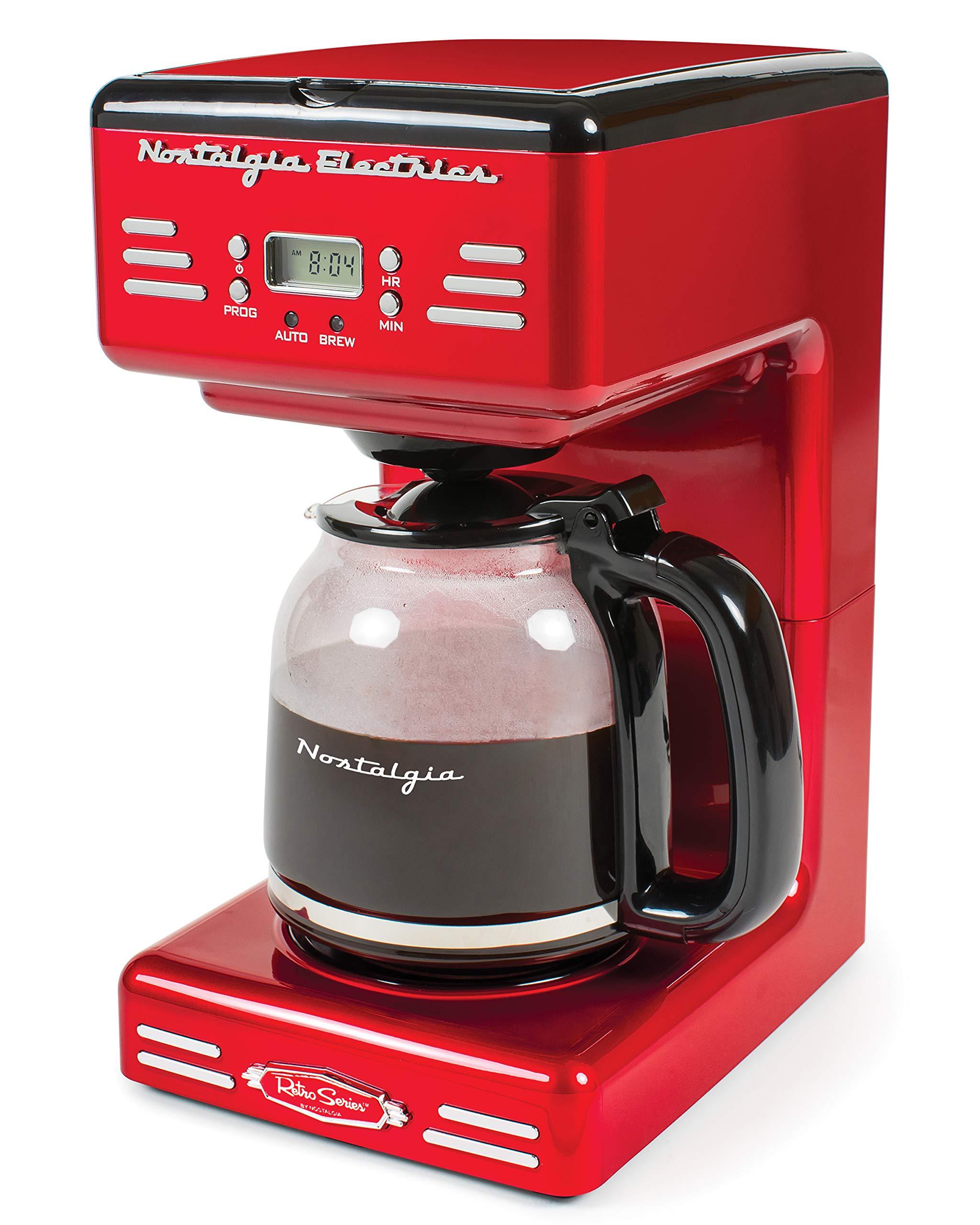 Nostalgia RCOF120 Retro 12-Cup Programmable Coffee Maker by NOSTALGIA