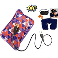 HARLLYCTION ELECTRIC HOT BAG Heating Heat Pad with FREE Neck Pillow, Ear Plug, Eye Mask