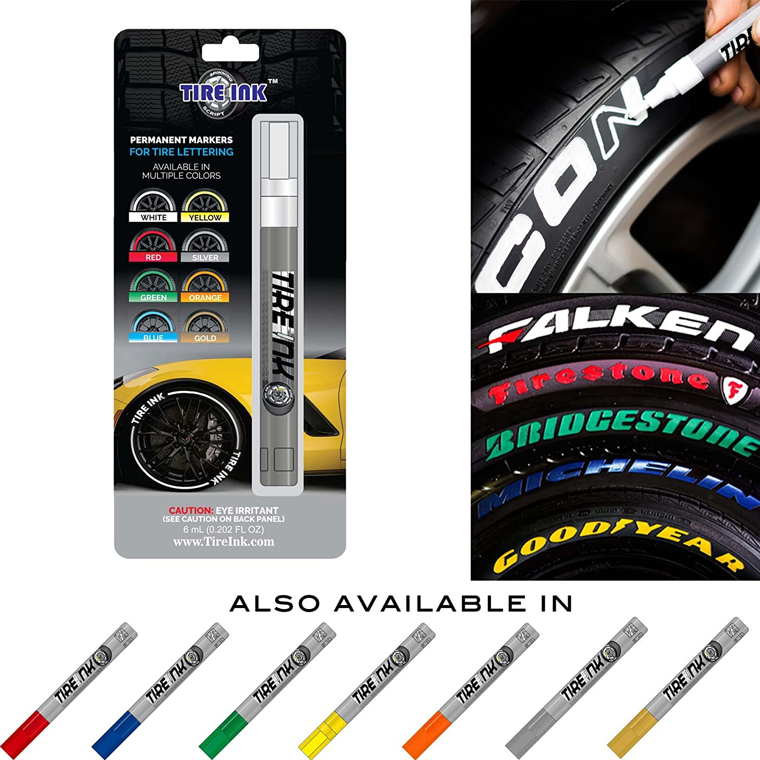 Amazon Com Tire Ink Paint Pen For Car Tires Permanent And