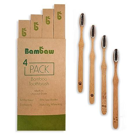 Cepillo de dientes de bambú | Cerdas medium| Cepillo de dientes ecológico | Blanqueador dental