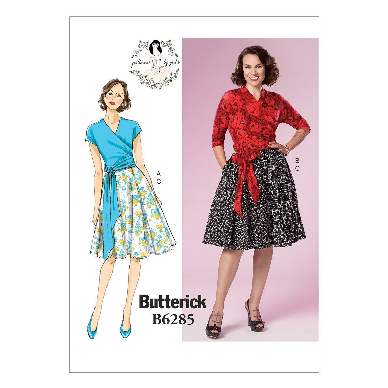 Butterick Pattern 6285E5taglie 14–22Misses top e gonna da cucito The McCall Pattern Company B6285E50