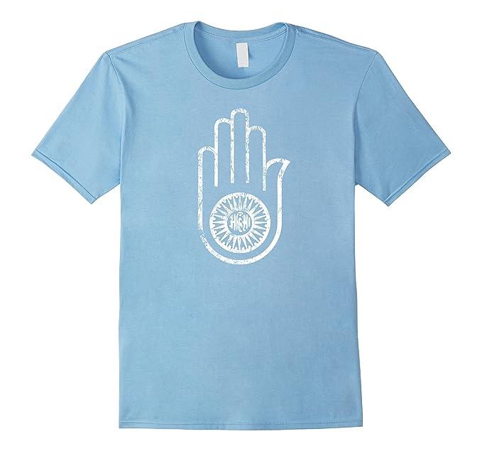 Amazon Jain Ahimsa Hand Distressed T Shirt Symbol Of Jainism