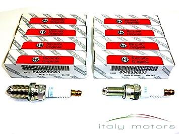 Original Alfa Romeo 147 Eco 1,6 76 kW 105 PS Bujía - Juego completo 8 pieza - 46550991 + 46550992: Amazon.es: Coche y moto