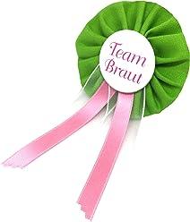 AnneSvea Orden - Team Braut Hochzeit grün JGA Team Bride Junggesellinnenabschied Anstecker Bridalshower Button