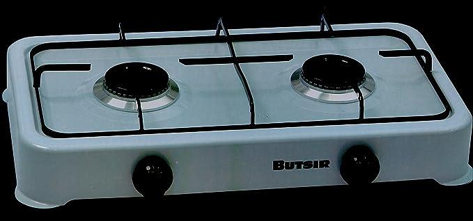 Butsir CEBC0020 Cocina 2 Fuegos, Blanco, 48x32x49 cm