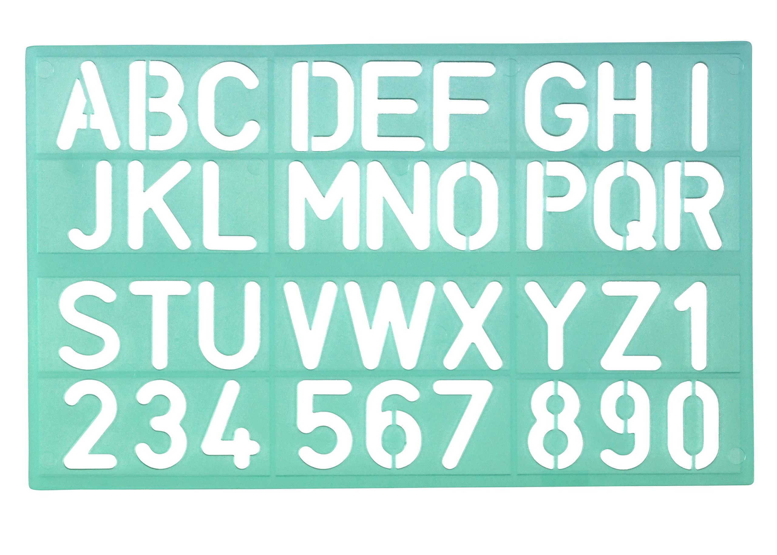 Linex 100412307 Lettering Stencil 8530 Lettering Height 30 mm Number Stencil Numbers and Numbers Pack of 30