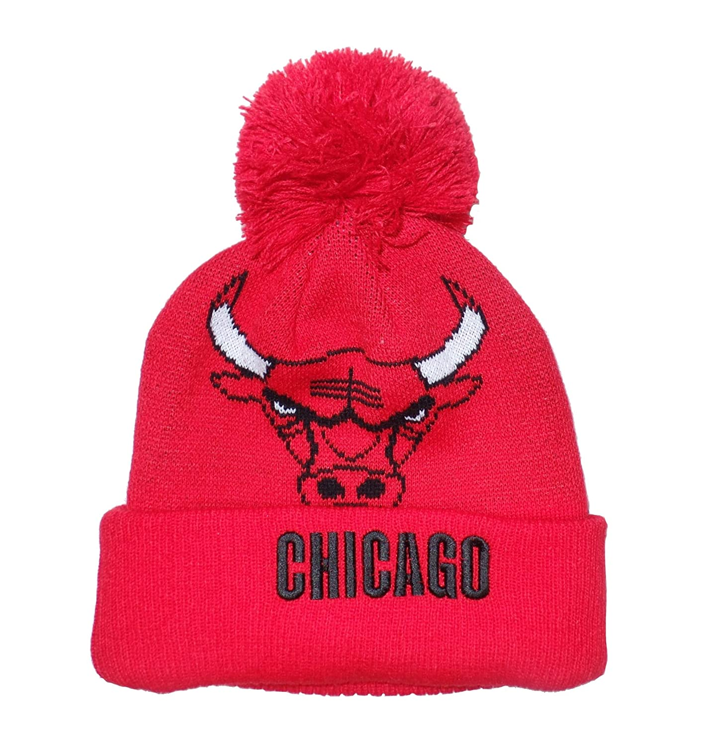 Amazon.com   adidas Chicago Bulls Cuffed Pom Knit Beanie Hat Cap   Sports    Outdoors d4a8af2e661