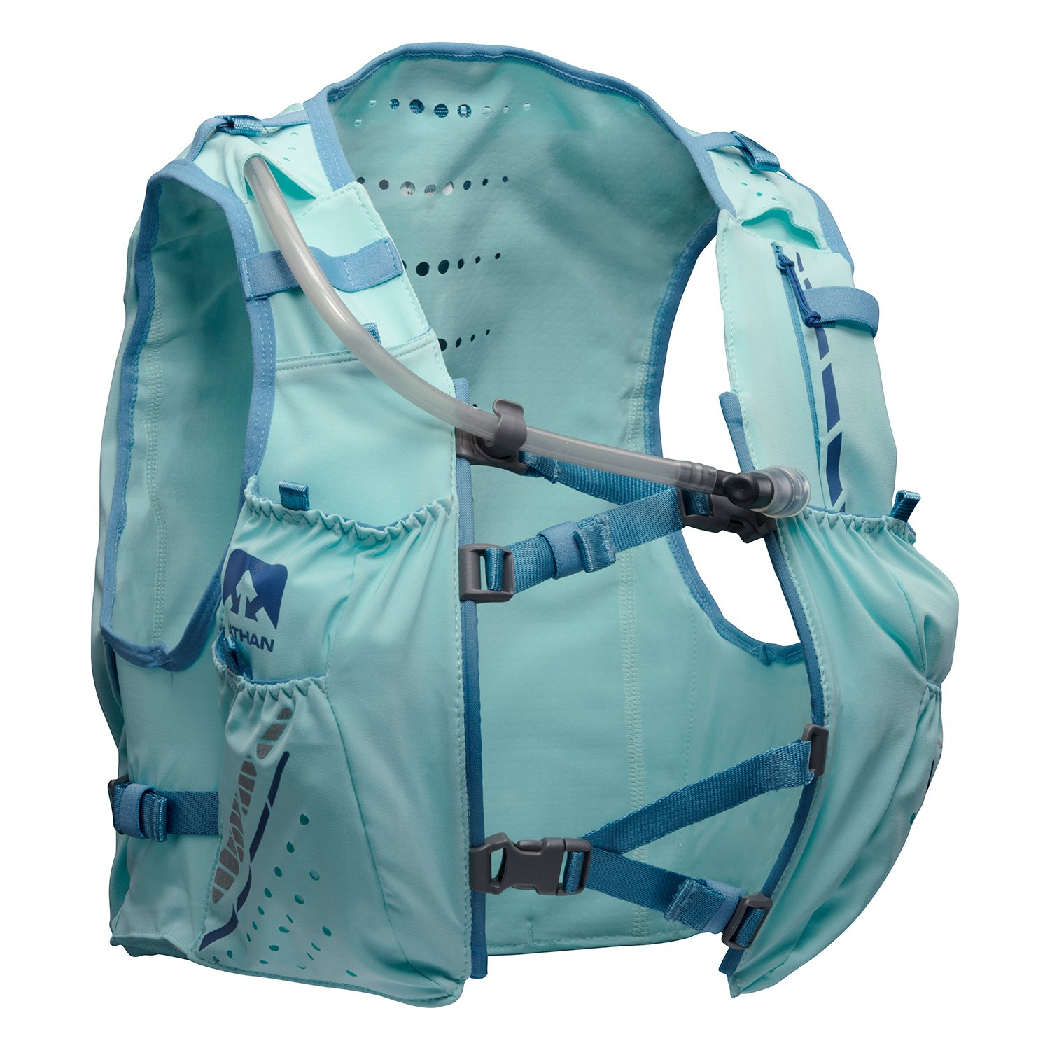 Nathan NS4538 Vaporhowe Hydaration Pack Running Vest with 1.8L Bladder, Blue Radiance, XX-Small