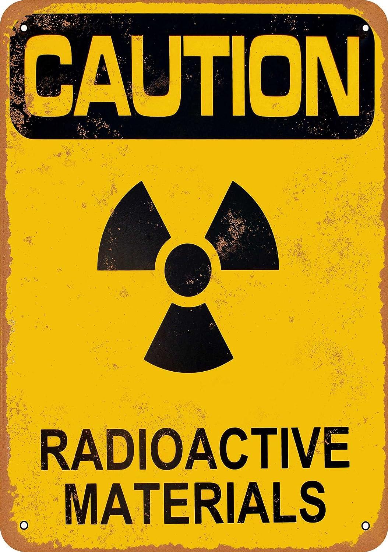 Danger Radiation Radioactive Tin Poster Sign Vintage Rustic Look Boys Room