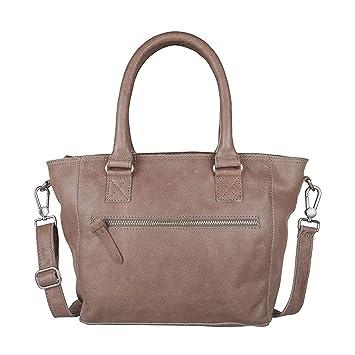 Bag Barrow Schultertasche Leder 28 cm elephantgrey Cowboysbag wWhdy