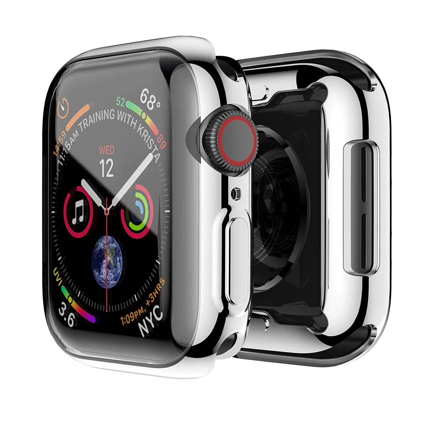 Smiling Case for Apple Watch Series 4 & Series 5 with Buit in TPU Clear Screen Protector 44mm- All Around Protective Case High Definition Clear ...