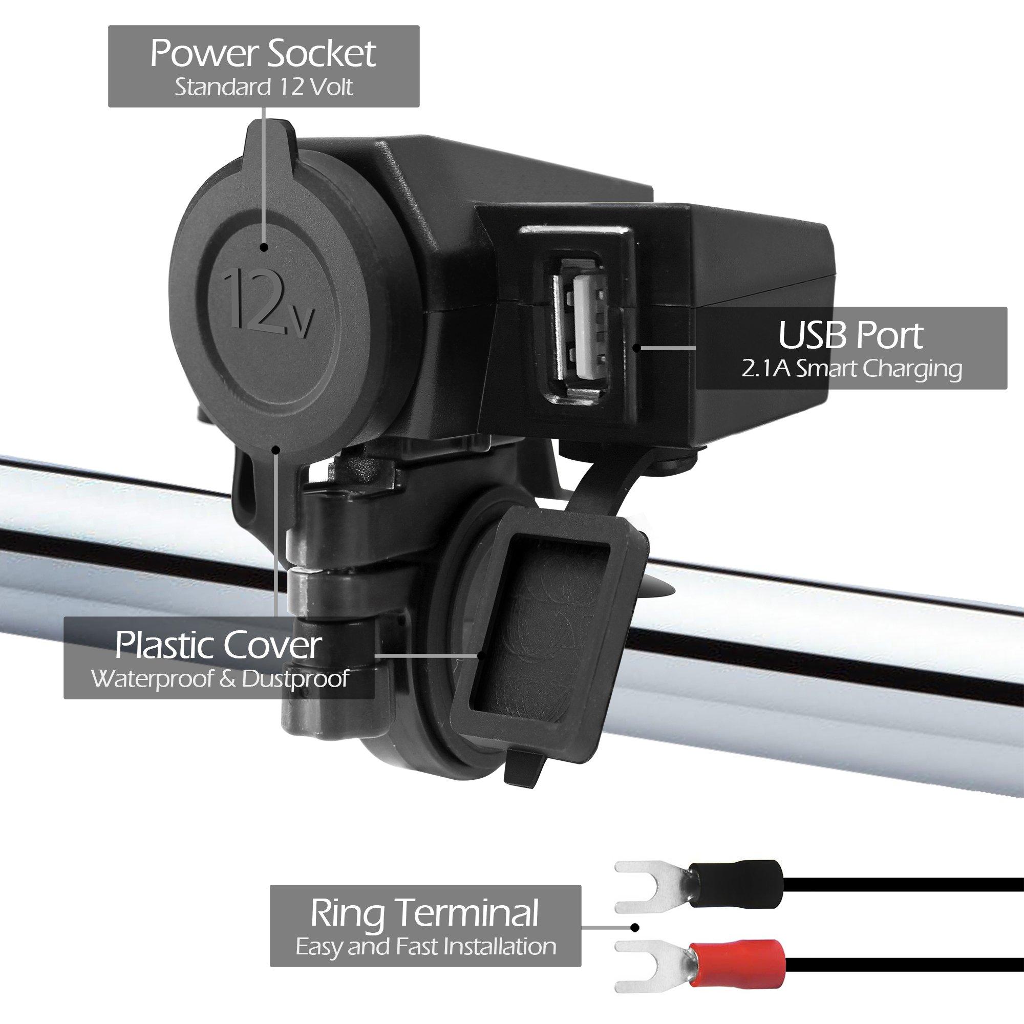 Bateria : Adaptadores para moto Gopro   1 entradas USB
