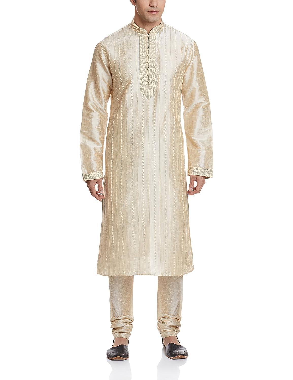 Royal Men's Polyester Kurta Pyjama L-SILK-GOLD-40-$P