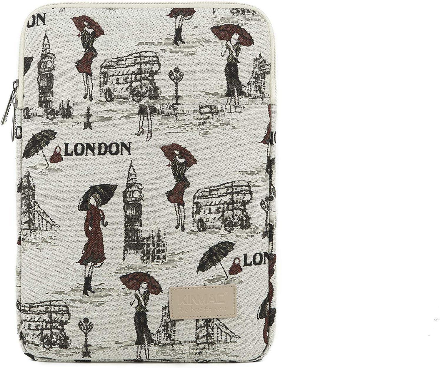 Kinmac Vertical Style Waterproof Laptop Sleeve with Pocket (15 inch, London Lady)