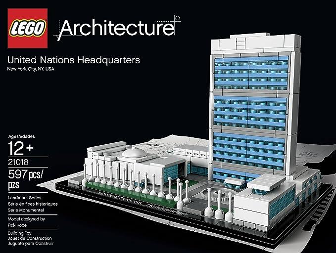 LEGO Architecture 21018 United Nations Headquarters Lego architecture char key UN headquarters (japan import): Amazon.es: Juguetes y juegos