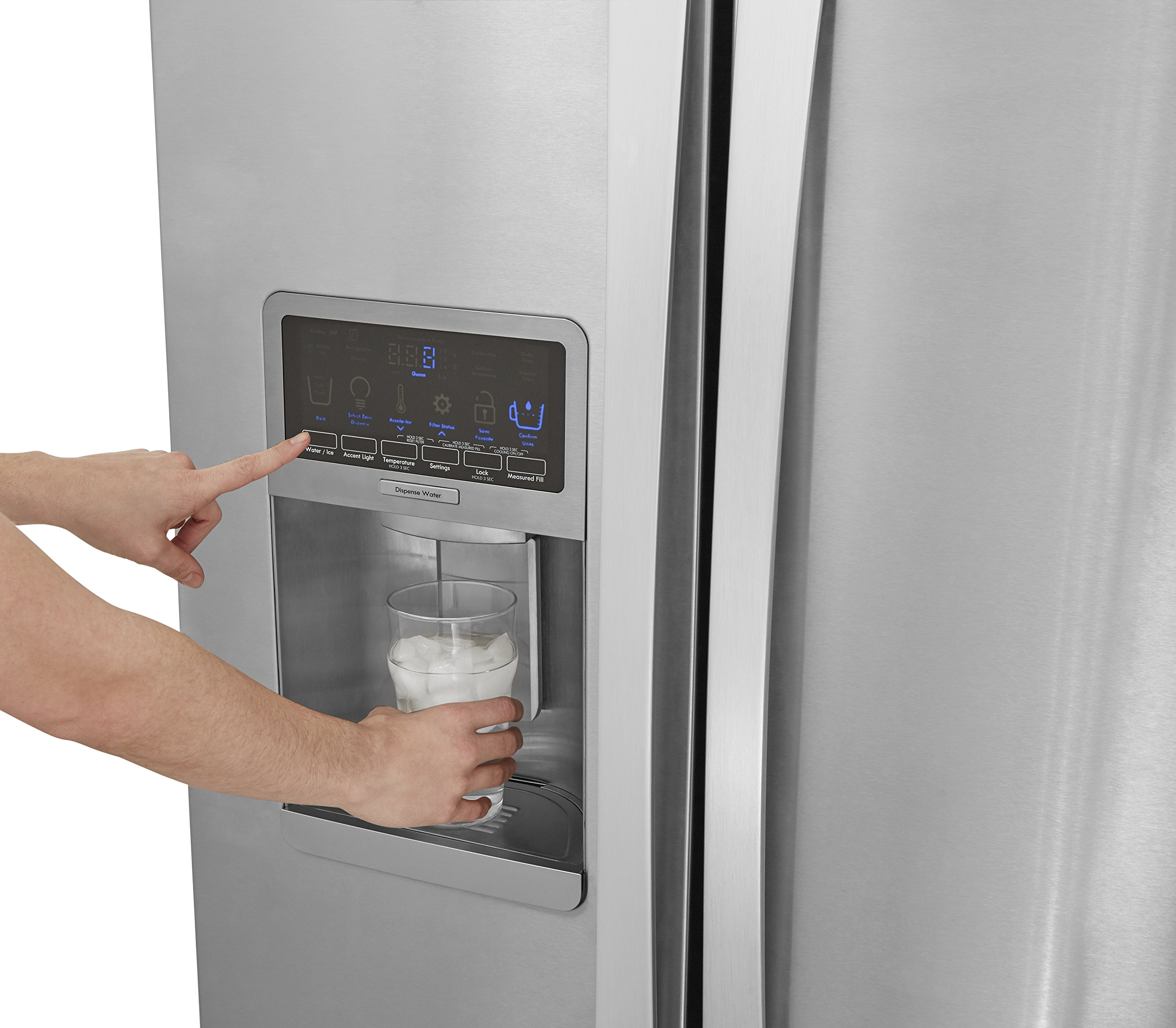 Kenmore Elite 51773 28 cu. ft. Side-by-Side Refrigerator with Accela Ice Technology in Stainless Steel, includes delivery and hookup (Available in select cities only) by Kenmore (Image #9)