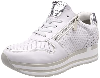 23717, Sneakers Basses Femme, Blanc (White Comb), 41 EUMarco Tozzi