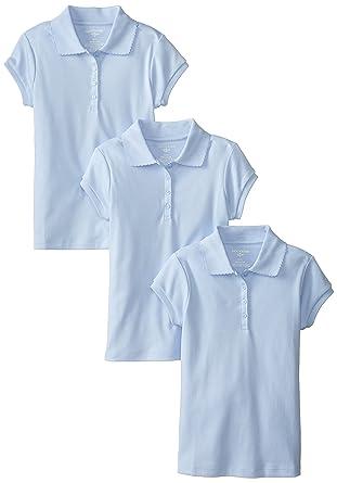 3c6049c12 Amazon.com  Dockers Girls  Uniform Short Sleeve Polo (Pack of 3)  Clothing