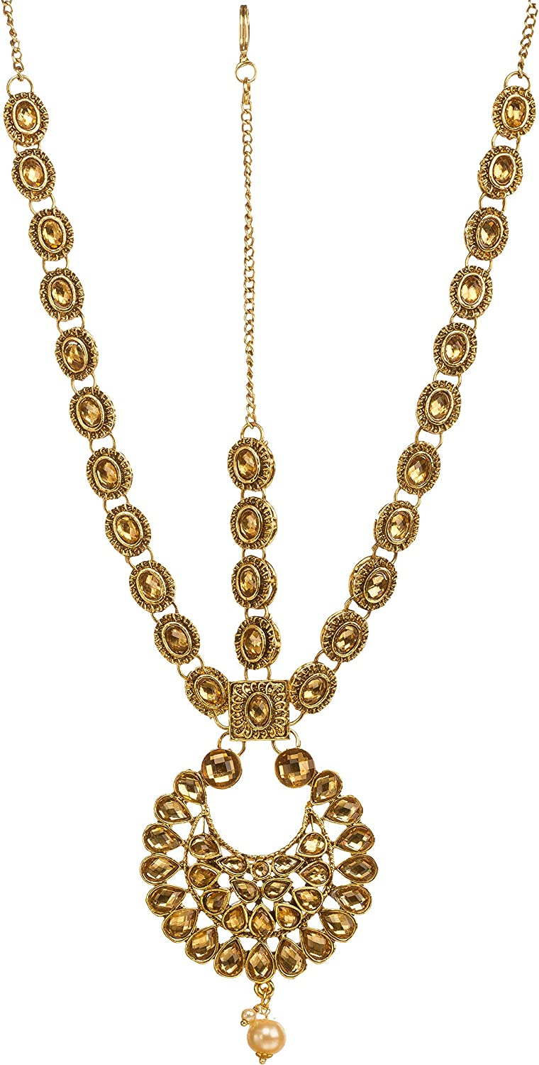 Amazon Com Bindhani Indian Bollywood Style Gold Plated Wedding