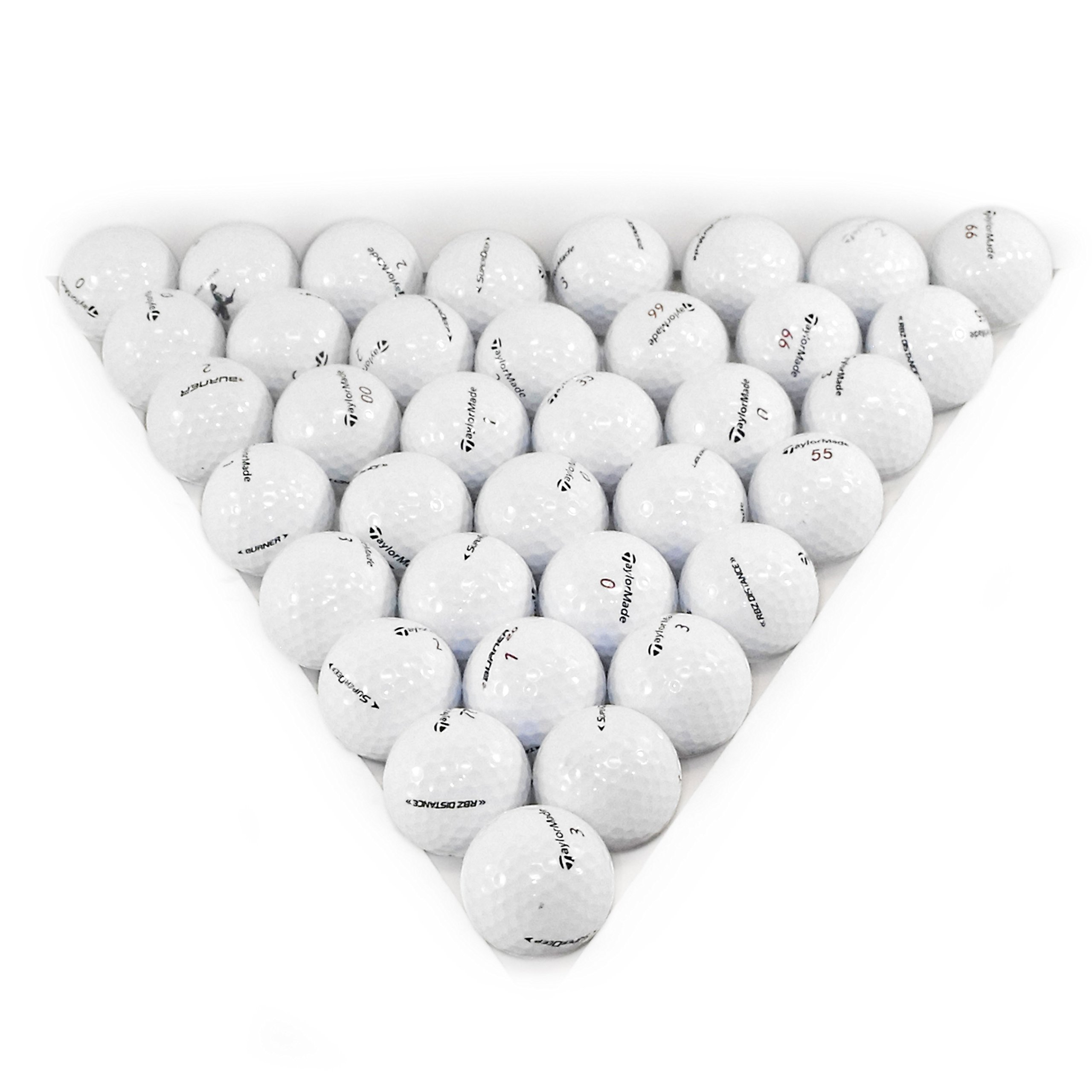 TaylorMade Assorted Models White 36 Pack Golf Balls Mint Condition ()