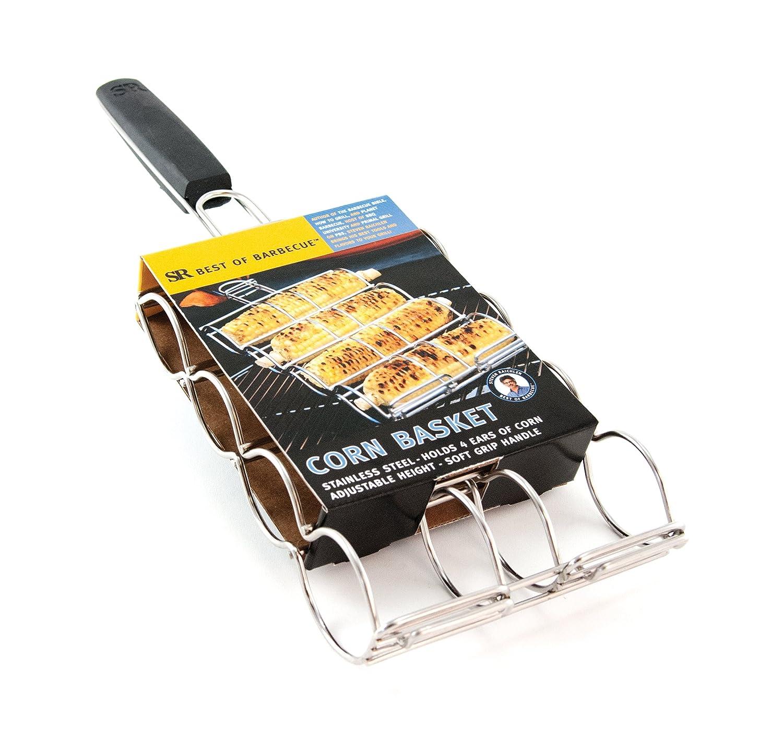 Steven Raichlen Best of Barbecue Stainless Adjustable Corn Grilling Basket - SR8166