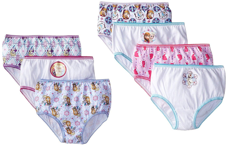 Disney Little Girls' Frozen Panties 7 Pack, Elsa, Anna (4t)
