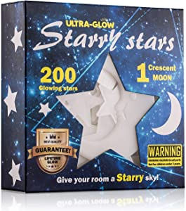 Eanpet Glow Stick 3D Wall Stickers Glow in The Dark Stars Adhesive Dots and Moon Starry Sky for Kids Bedroom Party Supplies Rocks Wall Decals (Colorful Star)