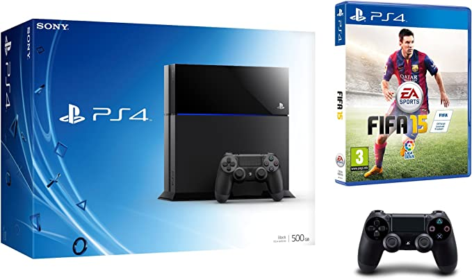 PlayStation 4 - Consola 500 GB (Incluye 2 mandos) + FIFA 15 ...