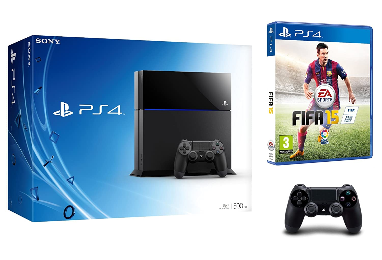 PlayStation 4 - Consola 500 GB (Incluye 2 mandos) + FIFA 15 ...