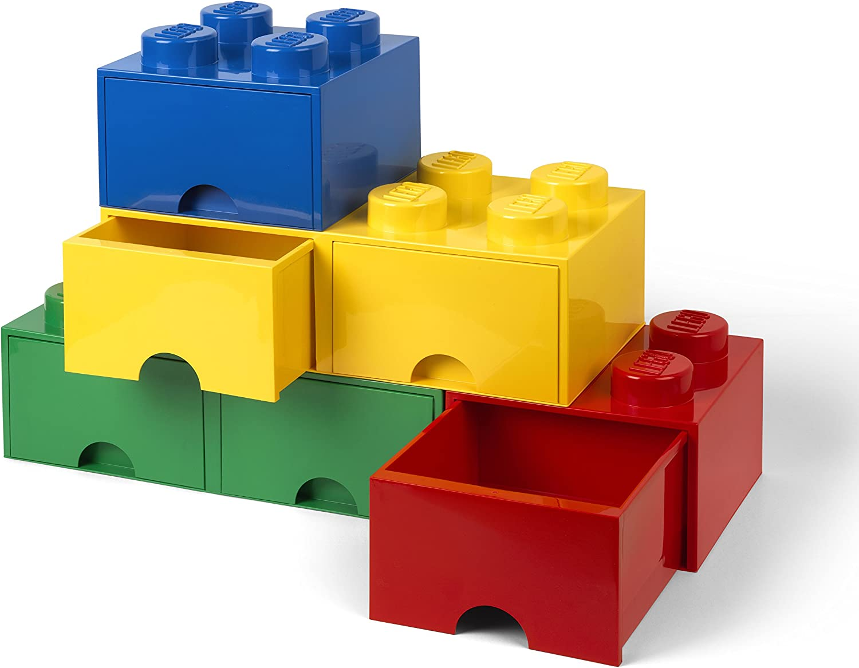 LEGO-40061732 Caja de Almacenaje Apilable, Ladrillo 8 pomos, 2 ...