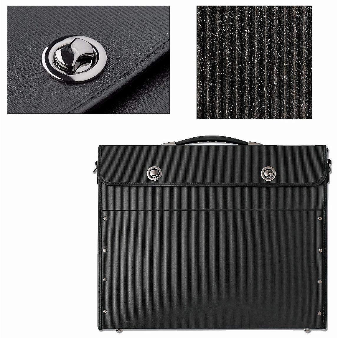 18x14 The START PREMIUM Black Portfolio Bag 18x14x2.50 by Prat-Paris/®
