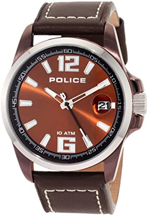 police mens watch lancer brown strap and brown dial police police mens watch lancer brown strap and brown dial