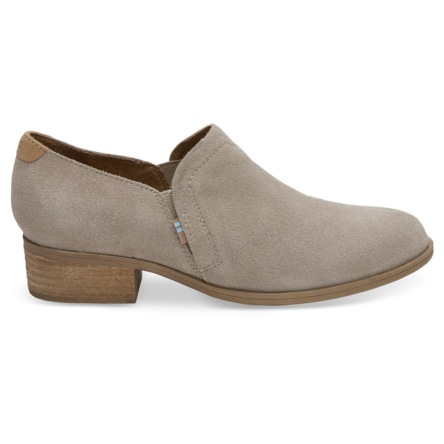 TOMS Desert Taupe Suede Women's Shaye Booties 10012287 (Size: 9)