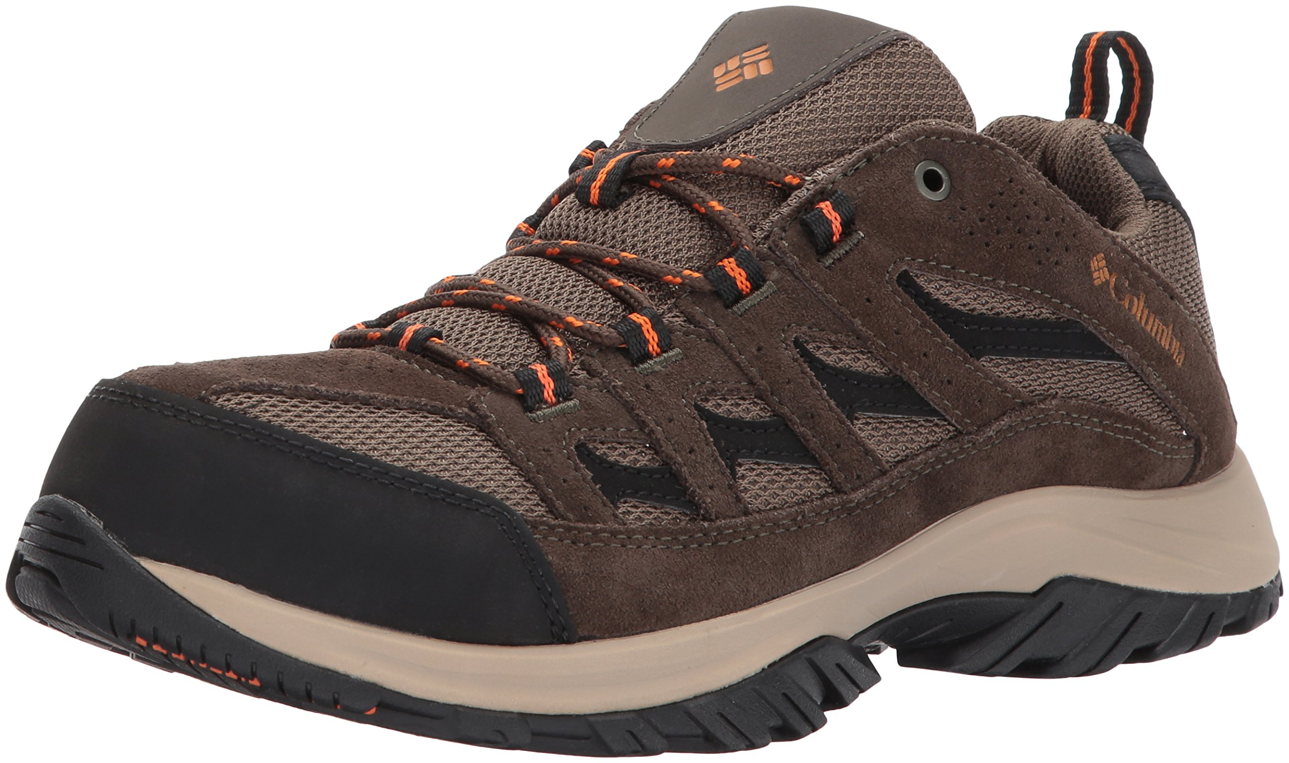 Columbia Men's Crestwood Hiking Shoe, Camo Brown, Heatwave, 10 D US