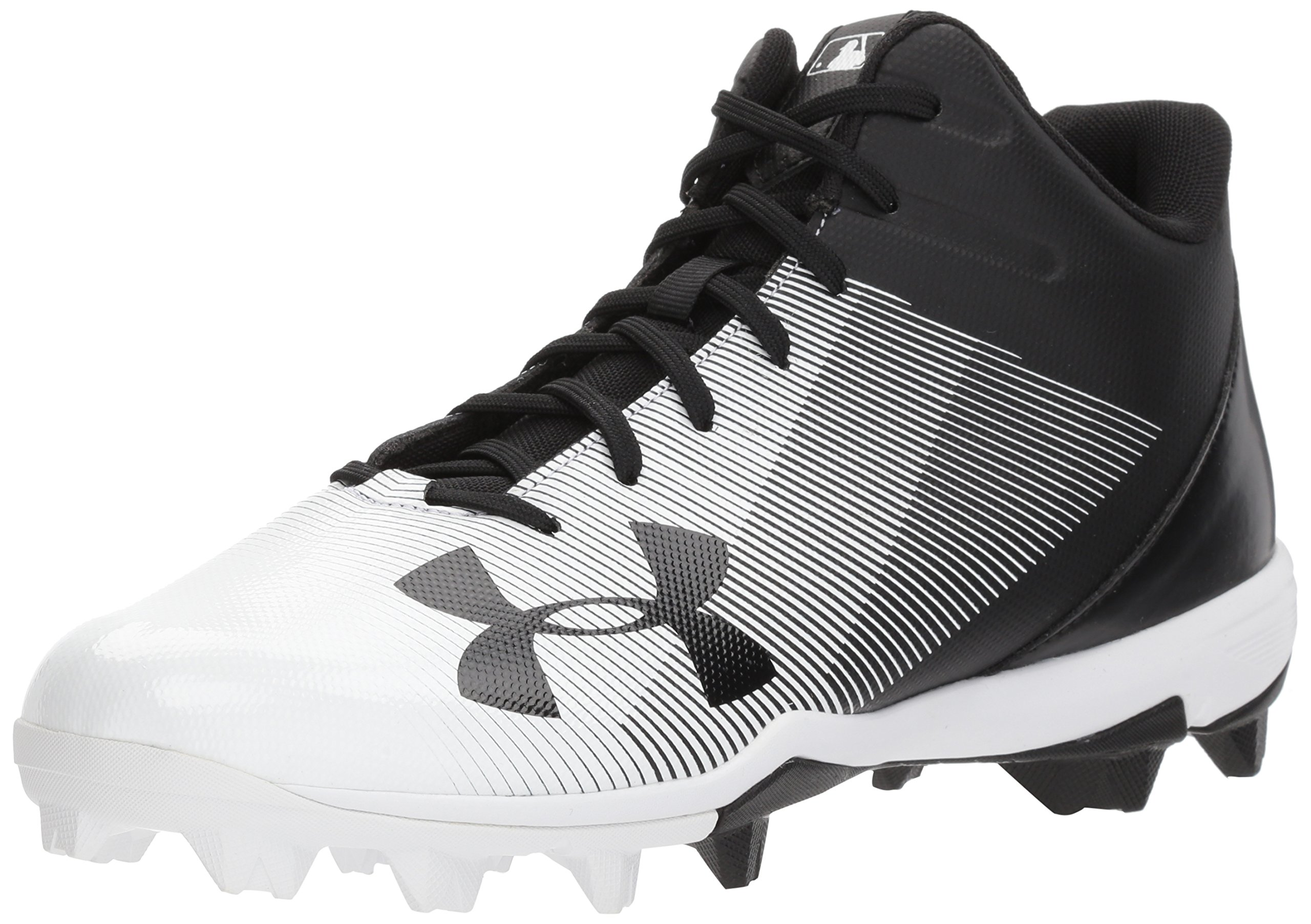Under Armour Men's Leadoff Mid RM Baseball Shoe, Black (001)/White, 9 by Under Armour