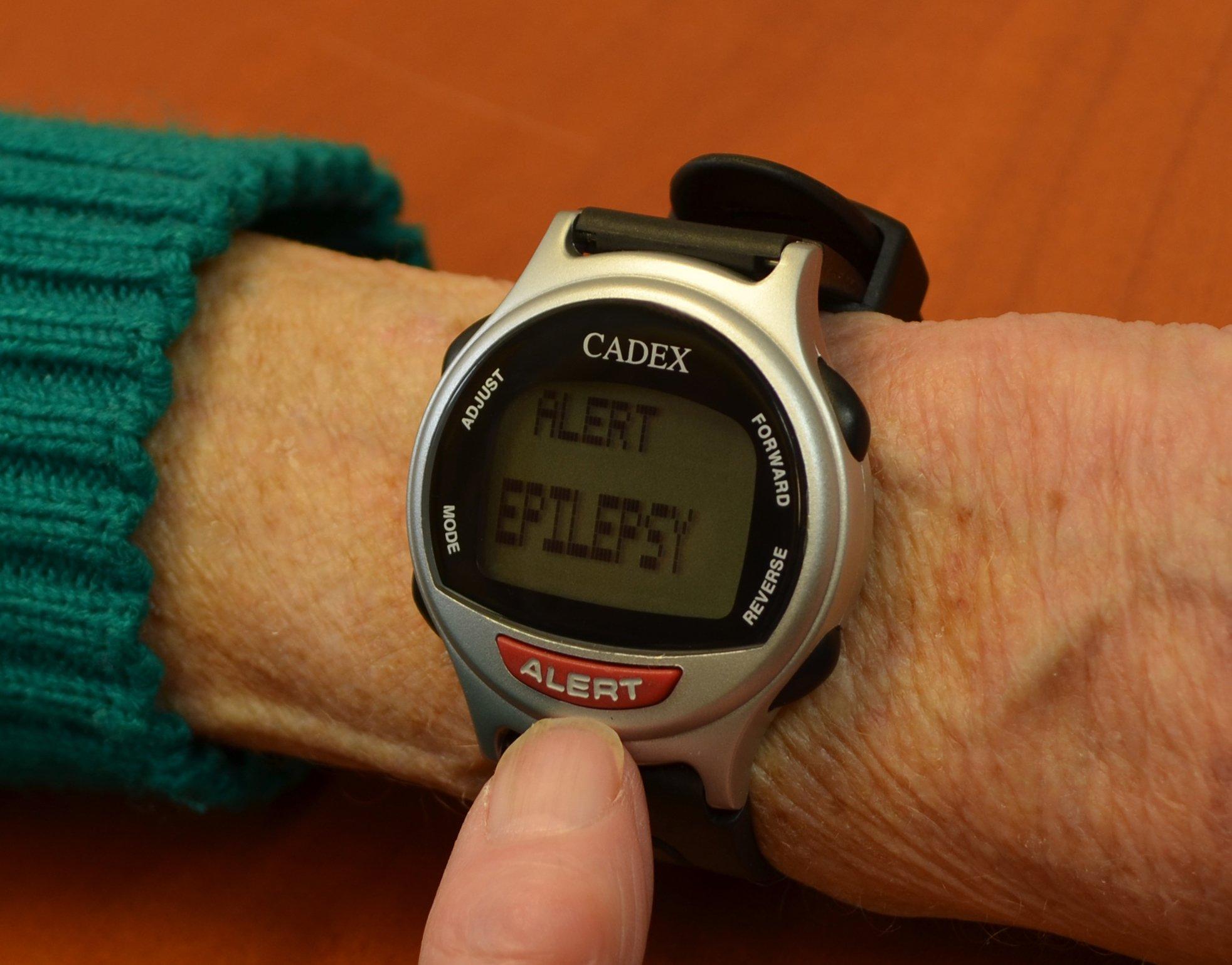 CADEX 12 Alarm Watch, Digital Medical ID, Silver by Cadex