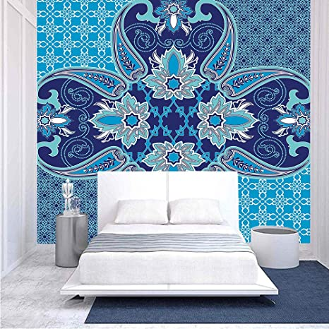Amazon Com 100x100 Inches Wall Mural Middle Eastern Oriental Persian Pattern With Arabesque Moroccan Effects Design Peel And Stick Self Adhesive Wallpaper Removable Large Wall Sticker Wall Decor For Home Office Home Kitchen