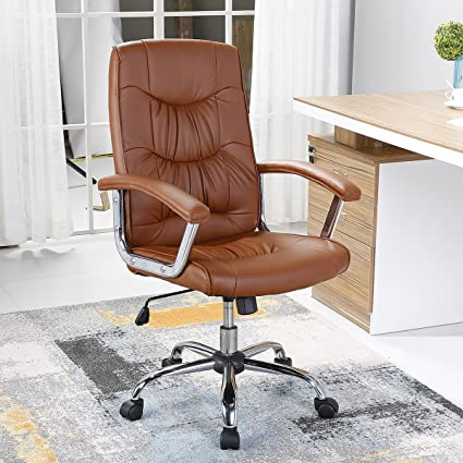 Charmant B2C2B Executive Office Chair Swivel Chair With Arms Mid Back PU Leather  Executive Desk Chair