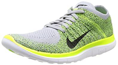 8be1bff93963 ... womens running shoes 98d49 3979d  canada amazon nike mens free 4.0  flyknit wolf grey black volt electric green 9.5 m us
